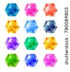 set of cartoon hexagon...   Shutterstock .eps vector #780089803