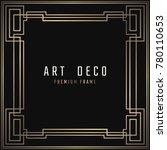 vector card. art deco style.... | Shutterstock .eps vector #780110653