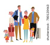 travelers people illustrations | Shutterstock .eps vector #780120463