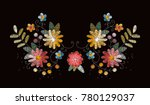 embroidery design with...   Shutterstock .eps vector #780129037