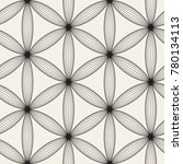 vector seamless lattice pattern.... | Shutterstock .eps vector #780134113