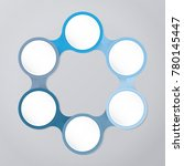 circle infographic template... | Shutterstock .eps vector #780145447