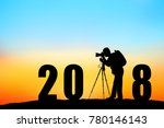 silhouette of  photographer... | Shutterstock . vector #780146143