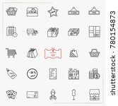 simple set of shopping related... | Shutterstock .eps vector #780154873