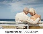 senior caucasian couple sitting ...   Shutterstock . vector #78016489