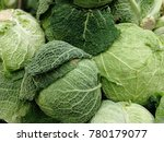 raw savoy cabbage source of... | Shutterstock . vector #780179077
