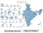 illustration of detailed map of ... | Shutterstock .eps vector #780199807