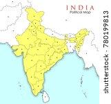 illustration of detailed map of ... | Shutterstock .eps vector #780199813