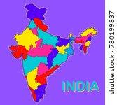 illustration of detailed map of ... | Shutterstock .eps vector #780199837