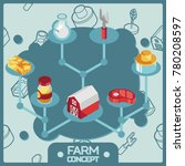 farm color isometric concept... | Shutterstock .eps vector #780208597