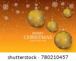 christmas light vector... | Shutterstock .eps vector #780210457