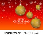 christmas light vector... | Shutterstock .eps vector #780211663