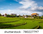 the house in the rice field in... | Shutterstock . vector #780227797