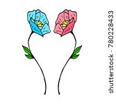 tulip icon illustration | Shutterstock . vector #780228433