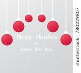 christmas balls  cut the paper  ... | Shutterstock .eps vector #780229807