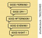 good morning speech bubble... | Shutterstock .eps vector #780250483