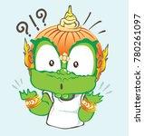 thai cartoon vector acting... | Shutterstock .eps vector #780261097