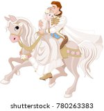 illustration of cinderella and ... | Shutterstock .eps vector #780263383