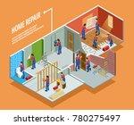 home repair isometric template...   Shutterstock . vector #780275497