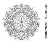 flower black mandala on white... | Shutterstock .eps vector #780281833