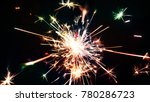 abstract sparklers with... | Shutterstock . vector #780286723