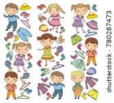 set of children clothing.... | Shutterstock .eps vector #780287473