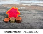 house model on wood table for...   Shutterstock . vector #780301627