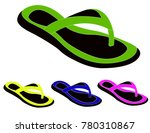 women summer slippers | Shutterstock .eps vector #780310867