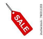sale tag icon  white text on... | Shutterstock .eps vector #780311203