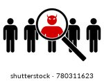 the devil in the guise of a man.... | Shutterstock .eps vector #780311623