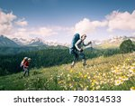 hiking in mountains | Shutterstock . vector #780314533