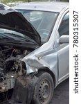 detail image of crashed car...   Shutterstock . vector #780315307