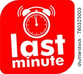 last minute button with... | Shutterstock .eps vector #780325003