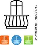 balcony window icon | Shutterstock .eps vector #780334753
