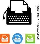 typewriter   author  icon | Shutterstock .eps vector #780335053