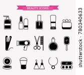 lady fashion accessories set ... | Shutterstock .eps vector #780340633