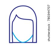 faceless woman profile avatar...   Shutterstock .eps vector #780344707