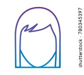 faceless woman profile avatar...   Shutterstock .eps vector #780345397