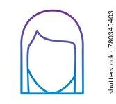 faceless woman profile avatar...   Shutterstock .eps vector #780345403
