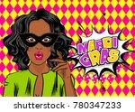 african american black star pop ... | Shutterstock .eps vector #780347233