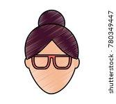 faceless woman profile avatar...   Shutterstock .eps vector #780349447