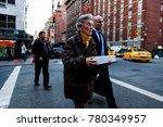 new york   nov 17  pedestrian... | Shutterstock . vector #780349957