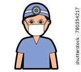 professional surgeon medical... | Shutterstock .eps vector #780354217