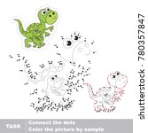 tyrannosaurus mom and her...   Shutterstock .eps vector #780357847