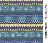 ethnic  pattern with triangle...   Shutterstock .eps vector #780358393