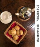 freshly baked scones for tea...   Shutterstock . vector #780386503