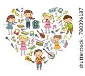 music school for kids vector... | Shutterstock .eps vector #780396187