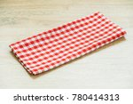 kitchen cloth on wood table... | Shutterstock . vector #780414313