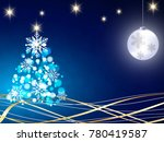 christmas background with blue... | Shutterstock .eps vector #780419587