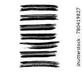 brush stroke set. texture. | Shutterstock .eps vector #780419827